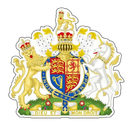 British Royal Coat of Arms  XL Size Lorry Sticker